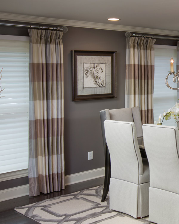 Custom window treatments in home by Columbus interior design professional